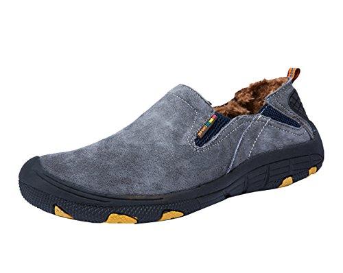 ICEGREY Herren Mode Trekking Wanderschuhe mit Plüsch Innen Warm Outdoor Schuhe Traillaufschuhe Walkingschuhe Grau EU 39