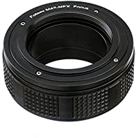 Fotasy M42 Lens to Sony NEX E-Mount Adapter Ring / Macro Focusing Helicoid, Black (NA42F)