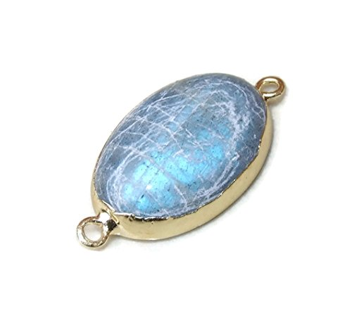 Labradorite Oval Connector - Labradorite - Two Loops for sale  Delivered anywhere in USA
