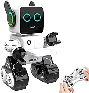 Aukfa Remote Control Robot, Robots for Kids Intelligent Programmable Robot Dancing,Singing,Talking,Voice Recording,Built-in Coin Bank,Gesture Sensing Rechargeable RC Robot for Boys, Girl