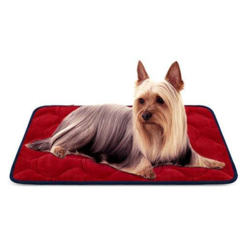 Dog Bed Mat Washable - Soft Fleece Crate Pad - Anti-Slip Mat