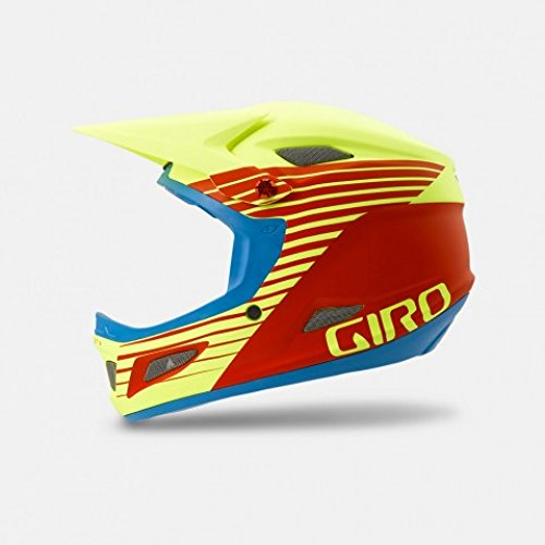 Giro Cipher Matte Glowing Red Highlight Yellow Mountain Bike Helmet Size small