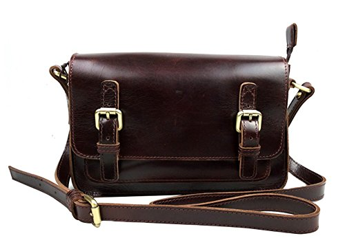 Genda 2Archer Vintage Mini Piccolo Crossbody della borsa a tracolla in pelle Mini Messenger Satchel