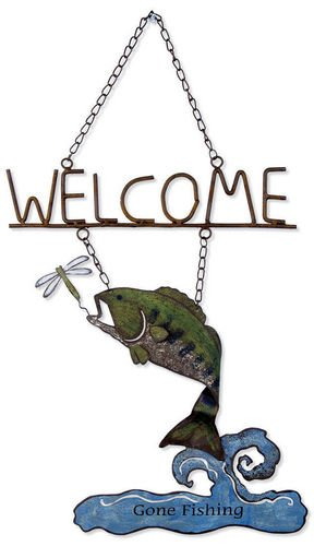 Sunset Vista Designs Catch of The Day Bass Welcome Sign