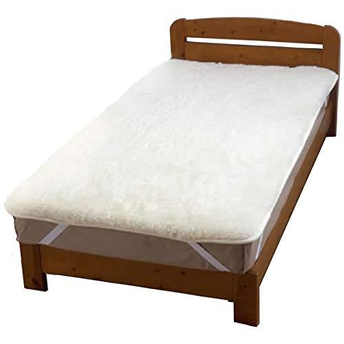 オーストラリア産羊毛使用 洗えるウールボア敷パッド シングルアイボリー 日本製 生活用品 インテリア 雑貨 寝具 保温シート マット 布団 14067381 [並行輸入品] B07L7Q1B4R