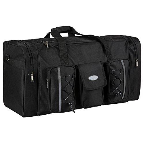 Cheesea Oxford Waterproof High Capacity Functional Duffle Luggage Bag Suitcase Tote Top Zip 110lb, Black For Sale