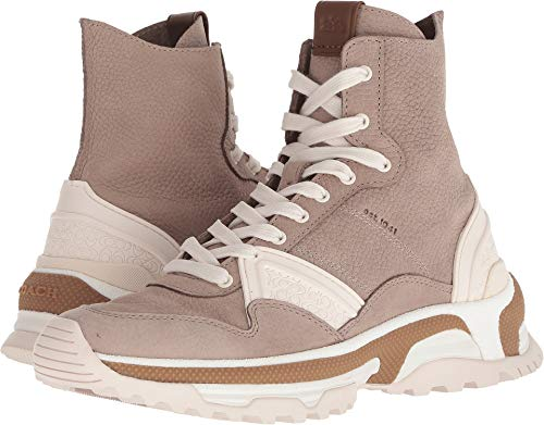 Coach Women's C243 High Top Sneaker Grey Nubuck 9.5 M US (Tops Coach High)