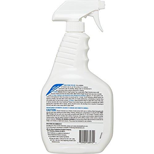 Clorox Healthcare Bleach Germicidal Cleaner Spray, 32 Ounces (For Healthcare Use) by Clorox (Image #3)