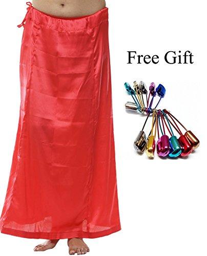 Odishabazaar Women Petticoat peticoat Sari Saree Underskirt Satin Bollywood Saree Skirt + Free Sari Pin (Satin Petticoat)
