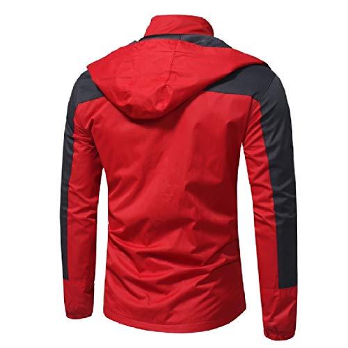 Antivento Rkbaoye Plus Outwear Mens Impermeabile Piumini Size Rossi Caldo wO4OqtXr