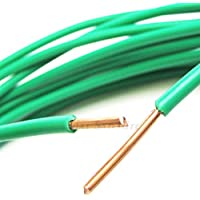 100ft MADE IN THE USA 10AWG GREEN THHN PVC Jacketed Solid Copper Grounding Wire UL Listed Lightening Strike Ground Protection for DirecTV Dish Network Satellite Antenna Cable by PHAT SATELLITE INTL