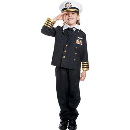 Dress up America- Disfraz de almirante azul marino para ...