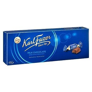 Dulce de Chocolate de Leche, Dulces Envueltos Individualmente en Caja de Regalo Azul 350g de Karl Fazer: Amazon.es: Alimentación y bebidas