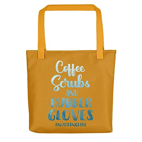 Tote Bags Coffee Scrubs And Rubber Gloves Funny Proud Nurse For Vet