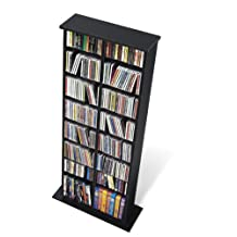 Prepac BMA-0320 Double Media Storage Tower (Black)