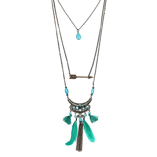 Juran Bluestone Multilayers Chain Necklace (Bluestone Necklace)