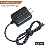for Motorola Baby Monitor Charger Power Cord, Compact Design Power Adapter Supply for Monitor Parent Unit MBP33S MBP36S MBP38S MBP41S MBP48 MBP33SBU MBP33SPU MBP36SBU - 6.6Ft Power Cord