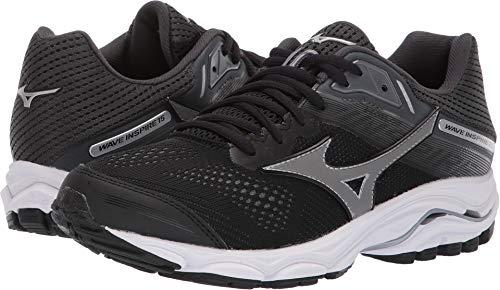 Mizuno Women's Wave Inspire 15 Running Shoe, Black-Dark Shadow, 8 W US