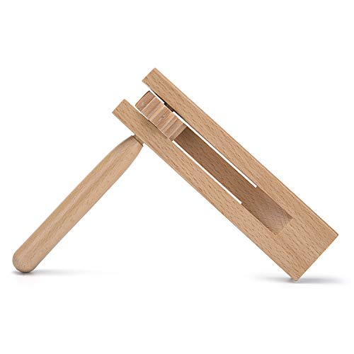 Traditional Matraca Toy - Wooden Spinning Rattle Ratchet Noise maker for Games, Parties and Sports