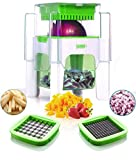 Vegetable Chopper for Onion, Potato, Veggie And Fruits - French Fry Cutter, Potato Cutter (Green)