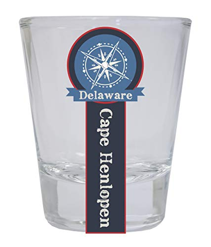Cape Henlopen Delaware Nautical Souvenir Round Shot Glass