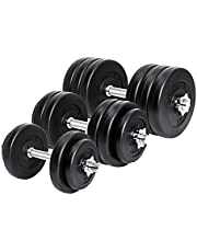 Meteor Essential Dumbbell Set Weight Dumbbells Plates Home Gym Fitness Exercise