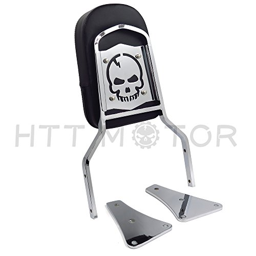 SMT MOTO- Chrome Flame Backrest Sissy Bar With Leather Pad For 86-13 Kawasaki Vulcan 1500 Classic