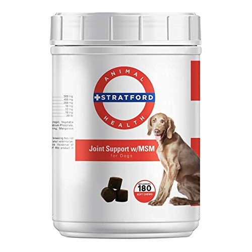 Stratford Pharmaceuticals Max Strength Joint Support With MSM Dogs - 180 Soft Chews by Stratford Pharmaceuticals