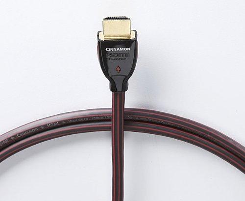 AudioQuest Cinnamon 1m (3.28 feet) Black/Red HDMI Cable