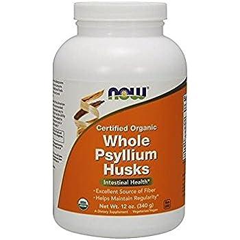 NOW Organic Whole Psyllium Husks,12-Ounce