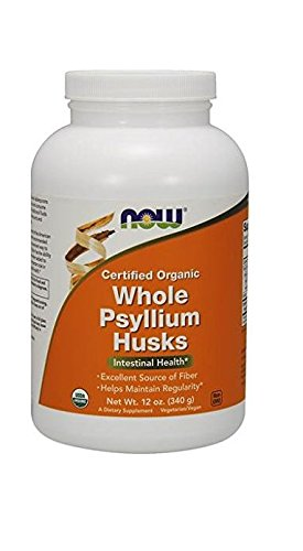 NOW Organic Whole Psyllium Husks,12-Ounce