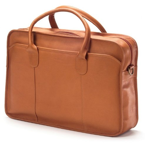 - Clava Top Handle Briefcase, Vachetta Cafe