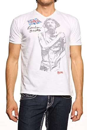 Guess Jeans Graphic Tee LONDON BEATS, Color: Cream, Size