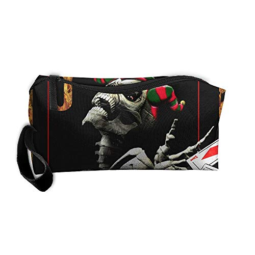 King Fong Poker Makeup Bag for Men/Women, Travel Toiletry Bag, Oxford Pencil Case