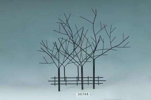 cast iron bird branch wall art - 1
