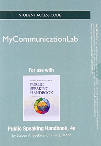 NEW MyCommunicationLab without Pearson eText -- Standalone Access Card -- for Public Speaking Handbook (4th Edition)