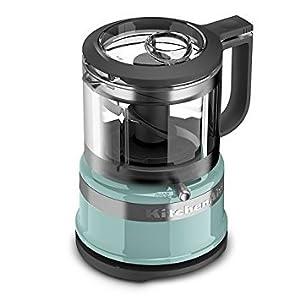 KitchenAid KFC3516AQ 3.5 Cup Mini Food Processor, Aqua Sky Blue