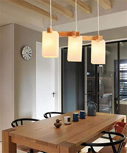 (XQY Bedroom Living Room Decoration Chandelier,Chandelier, Modern Scandinavian Led Chandelier Contr Actually Real Wood Office Bar Cafe Restaurant Chandelier European Modern Lounge Dining Room)