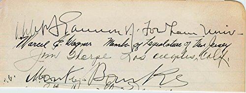 Jim Thorpe Signature Circa 1941 with co signers