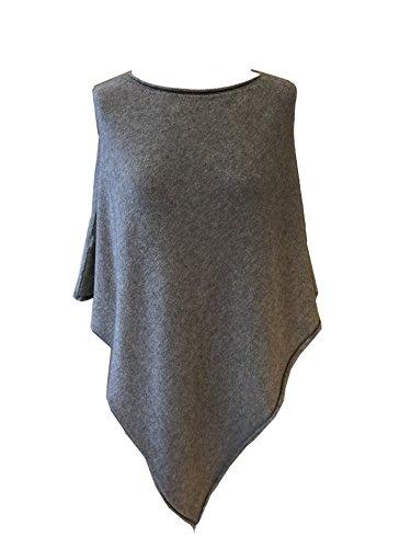 Fashion - Poncho - Poncho - para mujer Grau_ohne Stern