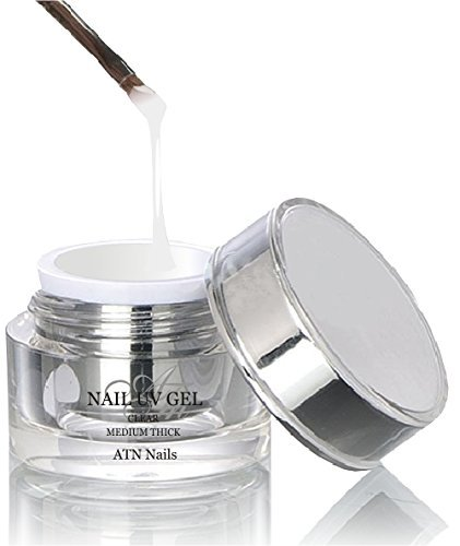 ATNails Nail UV Gel - crystal , clear MEDIUM THICK NEW 5ml