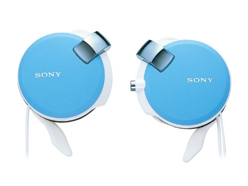 (Sony Clip-on Stereo Headphones with Retractable | MDR-Q38LW L Blue(Japan Import))