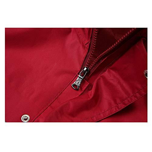 imperméable hommes Rouge air en camping rembourrés Raincoat Pantalons pour Rain etc Jxjjd Xxl randonnée Ensemble Couleur voyages plein Rouge les Taille RIwX71q