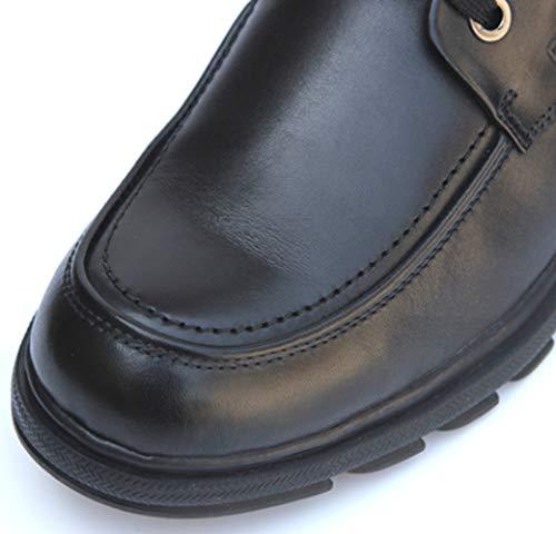 De Ligero De Formal De Forro 2 De MYXUA Encaje Cuero De Zapatos Trabajo Derby Los Cómodo Hombres Negocios q4Bft6n