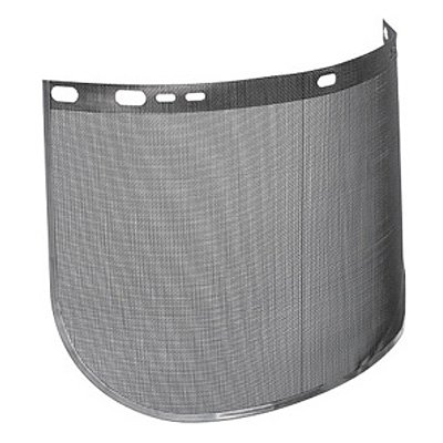 Jackson Safety* F60 Wire Mesh Face Shield - 8''h x 15-1/2''w, Black