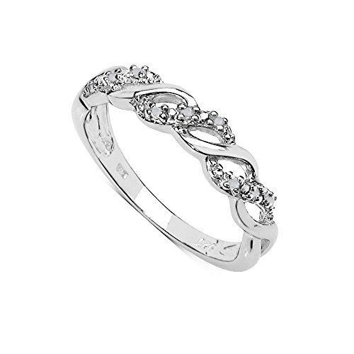 The Diamond Ring Collection: Beautiful 0.05CT Diamond 3 Row on the Twist...