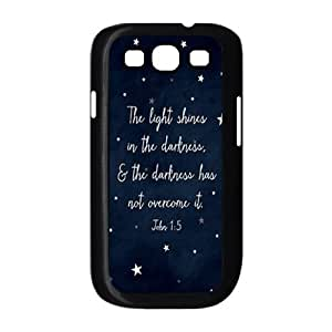 Custom Hard Plastic Back Case Cover for Samsung Galaxy S3 I9300 with Unique Design christian verses