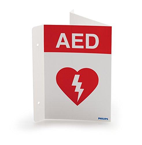 (Philips HeartStart AED Defibrillator Wall Sign)