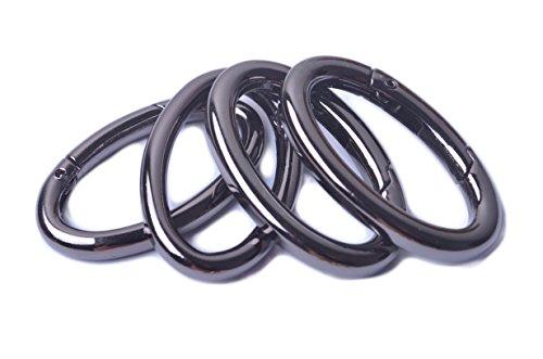 - Bobeey 4pcs 37x19mm Spring Oval Rings,Black Gun Oval Carabiner Snap Clip Trigger Spring Keyring Buckle,Oval Ring for Bags,Purses BBC8 (Black Gun) ...
