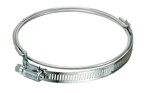 4 Min Clamp ID Pack of 1 Flex-Tube Bridge Stainless Steel Worm Gear Hose Clamp